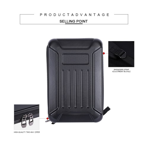 Black ABS Hard Shell Backpack Case Bag for Hubsan X4 H501S QuadcopterToys &amp; Hobbies<br>Black ABS Hard Shell Backpack Case Bag for Hubsan X4 H501S Quadcopter<br>
