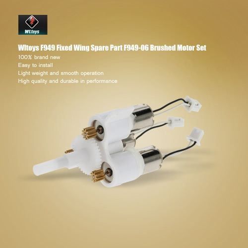 Original Wltoys RC Aircraft Spare Part F949-06 Brushed Motor Set for Wltoys F949 Fixed Wing RC AircraftToys &amp; Hobbies<br>Original Wltoys RC Aircraft Spare Part F949-06 Brushed Motor Set for Wltoys F949 Fixed Wing RC Aircraft<br>