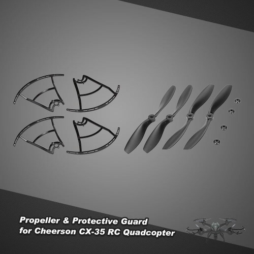 2 Pair of CW/CCW Propeller &amp; 4pcs Protective Guard for Cheerson CX-35 RC QuadcopterToys &amp; Hobbies<br>2 Pair of CW/CCW Propeller &amp; 4pcs Protective Guard for Cheerson CX-35 RC Quadcopter<br>