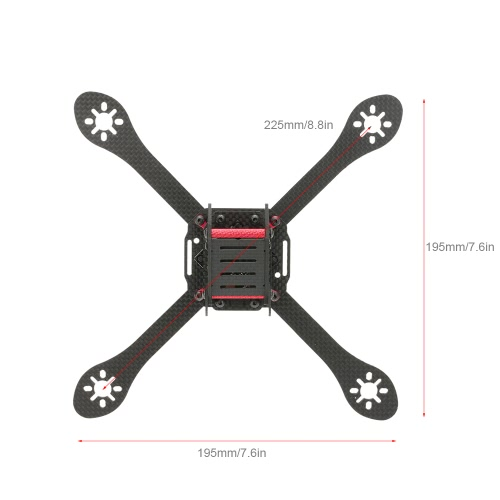 Original GEPRC GEP-ZX6 225mm Wheelbase FPV Quadcopter Carbon Fiber Frame with PDB Kit for 225mm Racing DroneToys &amp; Hobbies<br>Original GEPRC GEP-ZX6 225mm Wheelbase FPV Quadcopter Carbon Fiber Frame with PDB Kit for 225mm Racing Drone<br>