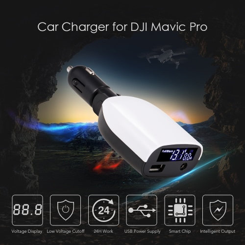 2 in 1 Digital LED Display Voltage Detect Outdoor Car Charger for DJI Mavic Pro FPV Drone QuadcopterToys &amp; Hobbies<br>2 in 1 Digital LED Display Voltage Detect Outdoor Car Charger for DJI Mavic Pro FPV Drone Quadcopter<br>