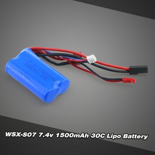 WSX-S07 7.4V 1500mAh 30C Lipo Battery for WLtoys 12428 FEIYUE FY-03 JJRC Q39 MJX F45 WL912 MJX F49 SUBOTECH BG1513Toys &amp; Hobbies<br>WSX-S07 7.4V 1500mAh 30C Lipo Battery for WLtoys 12428 FEIYUE FY-03 JJRC Q39 MJX F45 WL912 MJX F49 SUBOTECH BG1513<br>