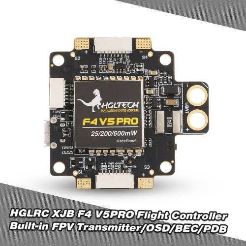 HGLRC XJB F4 V5PRO Flight Controller with 5.8G Transmitter OSD 5V BEC PDB for FPV RC Racing DroneToys &amp; Hobbies<br>HGLRC XJB F4 V5PRO Flight Controller with 5.8G Transmitter OSD 5V BEC PDB for FPV RC Racing Drone<br>