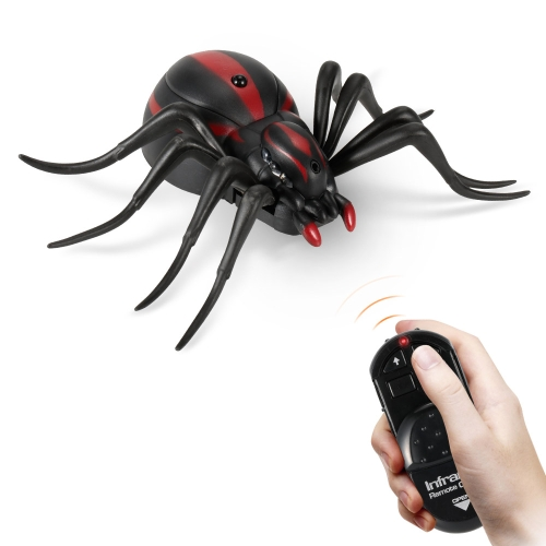 Infrared Remote Control Simulation Black Widow Spider Terrifying Ghost Toy RC Animal Christmas Present Gift for KidsToys &amp; Hobbies<br>Infrared Remote Control Simulation Black Widow Spider Terrifying Ghost Toy RC Animal Christmas Present Gift for Kids<br>