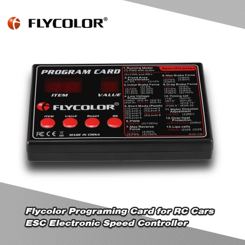 Original Flycolor Programing Card for RC Cars ESC Electronic Speed ControllerToys &amp; Hobbies<br>Original Flycolor Programing Card for RC Cars ESC Electronic Speed Controller<br>