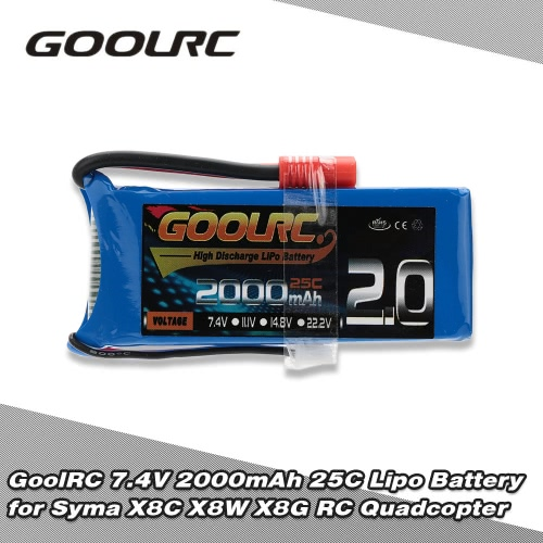 GoolRC 7.4V 2000mAh 25C Lipo Battery for Syma X8C X8W X8G X8HC X8HW X8HG RC QuadcopterToys &amp; Hobbies<br>GoolRC 7.4V 2000mAh 25C Lipo Battery for Syma X8C X8W X8G X8HC X8HW X8HG RC Quadcopter<br>