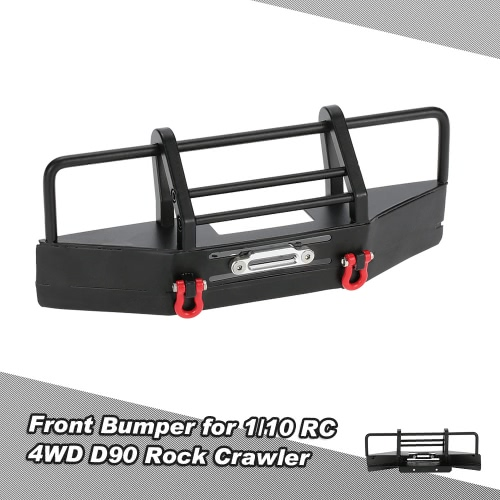 Metal Front Bumper with Trailer Buckle for 1/10 RC4WD D90 Axial SCX10 RC Rock CrawlerToys &amp; Hobbies<br>Metal Front Bumper with Trailer Buckle for 1/10 RC4WD D90 Axial SCX10 RC Rock Crawler<br>