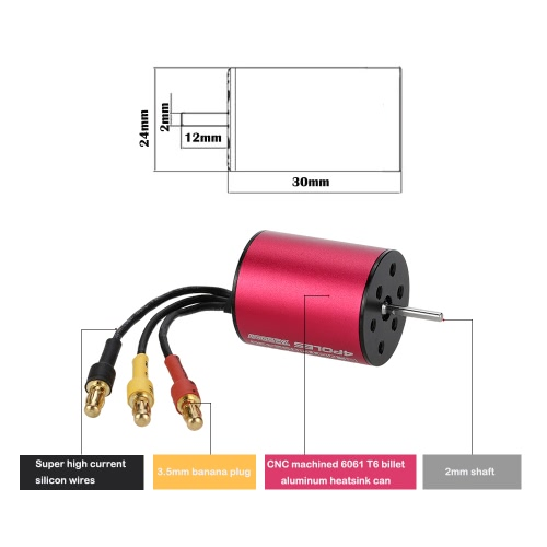 GoolRC S2430 7200KV Sensorless Brushless Motor for 1/18 1/16 RC CarToys &amp; Hobbies<br>GoolRC S2430 7200KV Sensorless Brushless Motor for 1/18 1/16 RC Car<br>