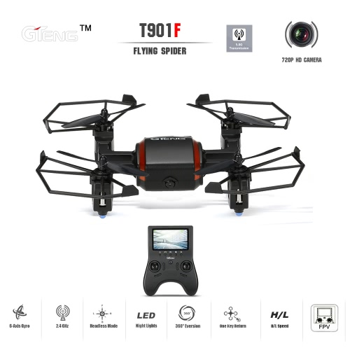 GTeng T901F Flying Spider 5.8G FPV RC Quadcopter with 720P HD CameraToys &amp; Hobbies<br>GTeng T901F Flying Spider 5.8G FPV RC Quadcopter with 720P HD Camera<br>