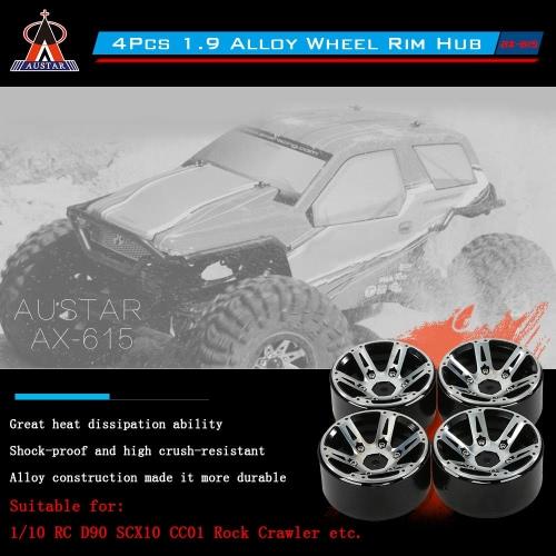 4Pcs AUSTAR 1.9 Alloy Wheel Rim Hub RC Car Accessories for 1/10 RC D90 SCX10 CC01 Rock CrawlerToys &amp; Hobbies<br>4Pcs AUSTAR 1.9 Alloy Wheel Rim Hub RC Car Accessories for 1/10 RC D90 SCX10 CC01 Rock Crawler<br>