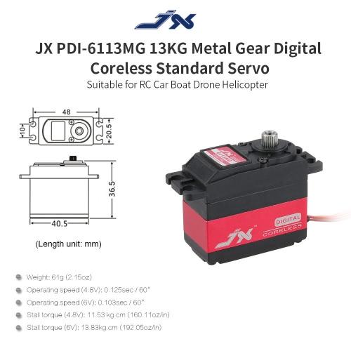 JX PDI-6113MG 13KG Metal Gear Digital Coreless Standard Servo for RC Car Boat Drone HelicopterToys &amp; Hobbies<br>JX PDI-6113MG 13KG Metal Gear Digital Coreless Standard Servo for RC Car Boat Drone Helicopter<br>