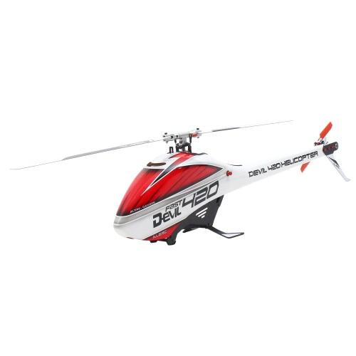 Original ALZRC Devil 420 FAST Flybarless Belt Drive 6CH 3D Helicopter Super Combo Set with Motor ESC Servo Gyro