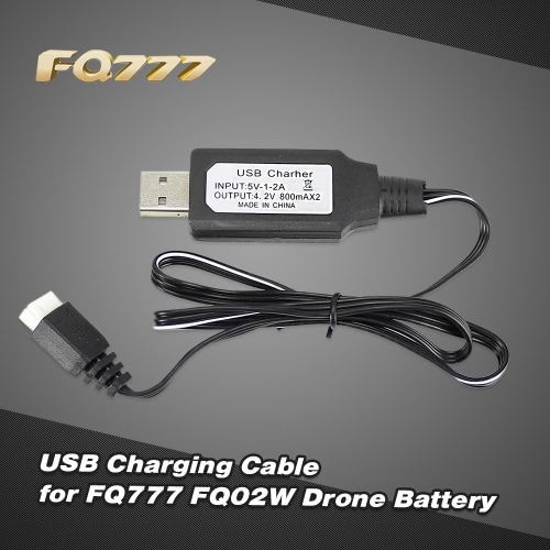 Lipo Battery USB Charging Cable for FQ777 FQ02W FPV Drone Foldable QuadcopterToys &amp; Hobbies<br>Lipo Battery USB Charging Cable for FQ777 FQ02W FPV Drone Foldable Quadcopter<br>