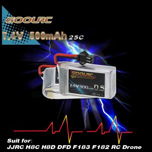 2Pcs GoolRC 7.4V 500mAh 25C Lipo Battery for JJRC H8C H8D DFD F183 F182 RC DroneToys &amp; Hobbies<br>2Pcs GoolRC 7.4V 500mAh 25C Lipo Battery for JJRC H8C H8D DFD F183 F182 RC Drone<br>