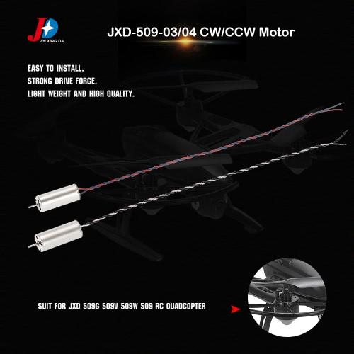 1 Pair Original JXD JXD-509-03/04 CW/CCW Motor for JXD 509G 509V 509W 509 RC QuadcopterToys &amp; Hobbies<br>1 Pair Original JXD JXD-509-03/04 CW/CCW Motor for JXD 509G 509V 509W 509 RC Quadcopter<br>
