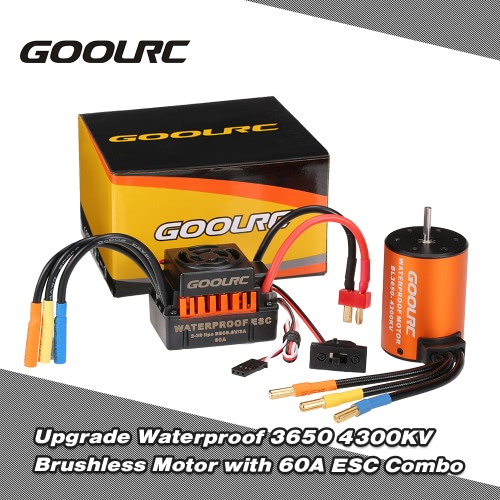 GoolRC Upgrade Waterproof 3650 4300KV Brushless Motor with 60A ESC Combo Set for 1/10 RC Car TruckToys &amp; Hobbies<br>GoolRC Upgrade Waterproof 3650 4300KV Brushless Motor with 60A ESC Combo Set for 1/10 RC Car Truck<br>