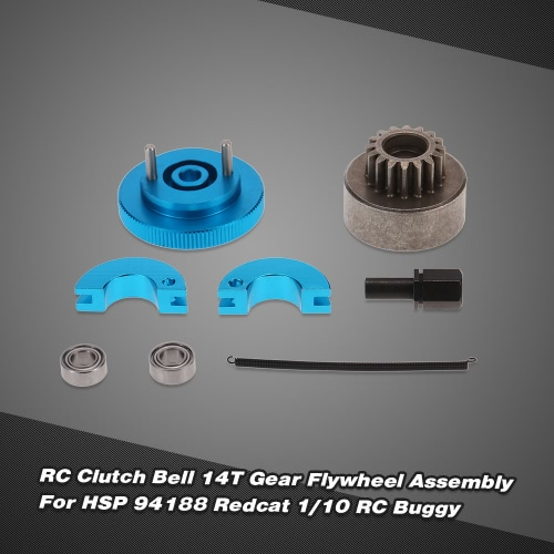 02107 02068 RC Clutch Bell 14T Gear Flywheel Assembly For HSP 94188 Redcat 1/10 RC BuggyToys &amp; Hobbies<br>02107 02068 RC Clutch Bell 14T Gear Flywheel Assembly For HSP 94188 Redcat 1/10 RC Buggy<br>