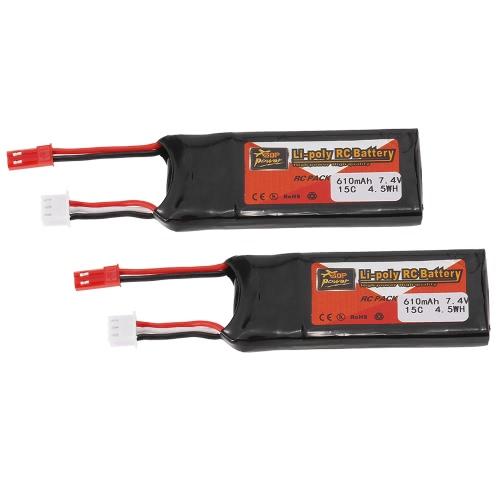 2pcs ZOP Power 7.4V 610mAh 15C Lipo Battery JST PlugToys &amp; Hobbies<br>2pcs ZOP Power 7.4V 610mAh 15C Lipo Battery JST Plug<br>