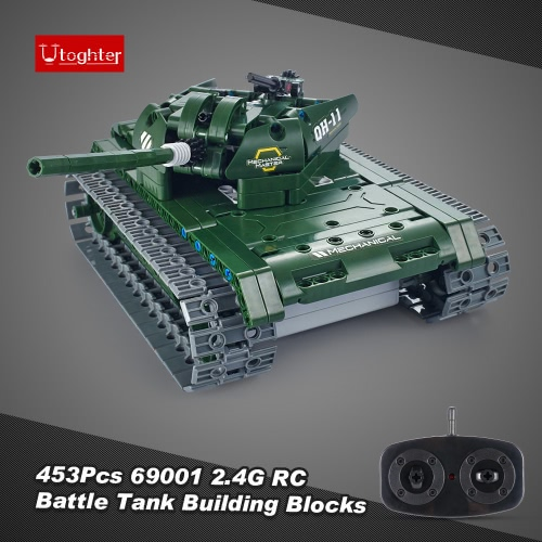 453Pcs Utoghter 69001 2.4G RC Battle Tank Building Blocks Kits Toy Bricks Car Model DIY ToysToys &amp; Hobbies<br>453Pcs Utoghter 69001 2.4G RC Battle Tank Building Blocks Kits Toy Bricks Car Model DIY Toys<br>