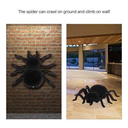 Radio Control RC Simulation Furry Electronic Spider Scary Scream Wall Climbing Spider Toy Kids Gift Halloween SurpriseToys &amp; Hobbies<br>Radio Control RC Simulation Furry Electronic Spider Scary Scream Wall Climbing Spider Toy Kids Gift Halloween Surprise<br>