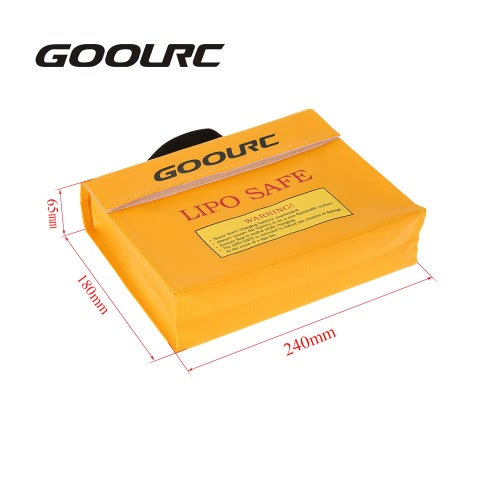 GoolRC 24 * 18 * 6.5cm Golden High Quality Glass Fiber RC LiPo Battery Safety Bag Safe Guard Charge SackToys &amp; Hobbies<br>GoolRC 24 * 18 * 6.5cm Golden High Quality Glass Fiber RC LiPo Battery Safety Bag Safe Guard Charge Sack<br>