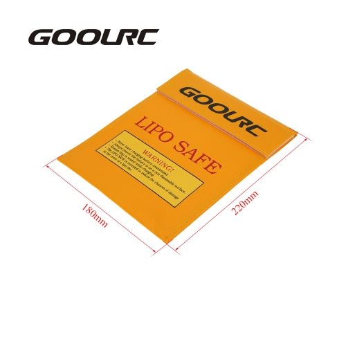 GoolRC 22 * 18cm Golden High Quality Glass Fiber RC LiPo Battery Safety Bag Safe Guard Charge SackToys &amp; Hobbies<br>GoolRC 22 * 18cm Golden High Quality Glass Fiber RC LiPo Battery Safety Bag Safe Guard Charge Sack<br>