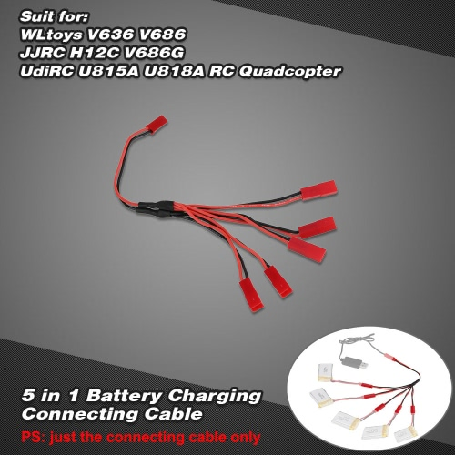 5 in 1 Battery Charging Connecting Cable for WLtoys V636 V686 JJRC H12C V686G UdiRC U815A U818A RC QuadcopterToys &amp; Hobbies<br>5 in 1 Battery Charging Connecting Cable for WLtoys V636 V686 JJRC H12C V686G UdiRC U815A U818A RC Quadcopter<br>