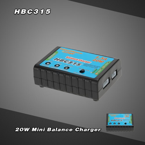 HBC315 20W Mini Balance Charger for 2-3S LiPo BatteryToys &amp; Hobbies<br>HBC315 20W Mini Balance Charger for 2-3S LiPo Battery<br>