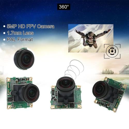 360° Fish-eye 5MP FPV Camera 1.7mm Lens PAL Format for QAV250 FPV Aerial PhotographyToys &amp; Hobbies<br>360° Fish-eye 5MP FPV Camera 1.7mm Lens PAL Format for QAV250 FPV Aerial Photography<br>