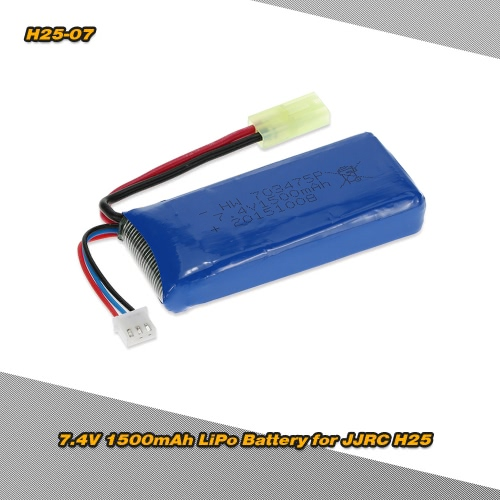 H25-07 7.4V 1500mAh LiPo Battery for JJRC H25 H25C H25G RC QuadcopterToys &amp; Hobbies<br>H25-07 7.4V 1500mAh LiPo Battery for JJRC H25 H25C H25G RC Quadcopter<br>