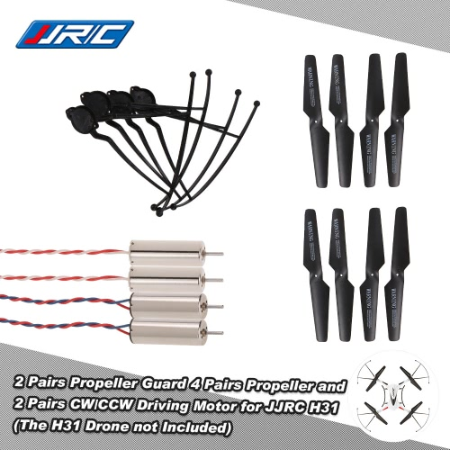 Original JJRC H31 Spare Part 4 Pairs Propeller 2 Pairs CW/CCW Driving Motor and 4 Pcs Propeller Guard for JJRC H31 and GoolRC T6 RToys &amp; Hobbies<br>Original JJRC H31 Spare Part 4 Pairs Propeller 2 Pairs CW/CCW Driving Motor and 4 Pcs Propeller Guard for JJRC H31 and GoolRC T6 R<br>