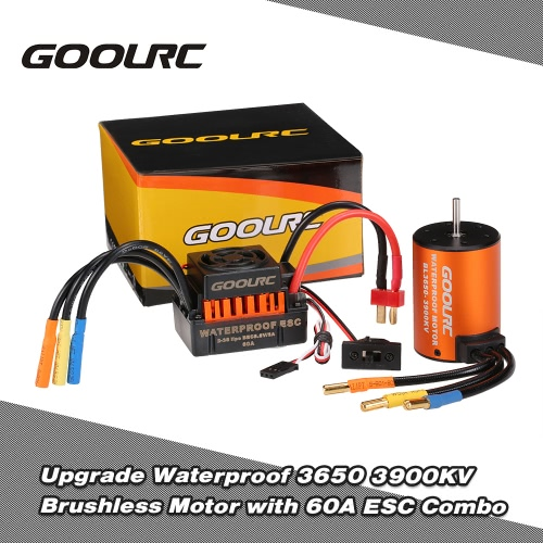GoolRC Upgrade Waterproof 3650 3900KV Brushless Motor with 60A ESC Combo Set for 1/10 RC Car TruckToys &amp; Hobbies<br>GoolRC Upgrade Waterproof 3650 3900KV Brushless Motor with 60A ESC Combo Set for 1/10 RC Car Truck<br>