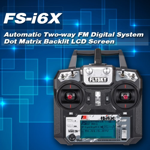 Flysky FS-i6X 2.4GHz 6CH AFHDS 2A RC Transmitter Remote Controller with FS-X6B Receiver for RC Drone Airplane HelicopterToys &amp; Hobbies<br>Flysky FS-i6X 2.4GHz 6CH AFHDS 2A RC Transmitter Remote Controller with FS-X6B Receiver for RC Drone Airplane Helicopter<br>