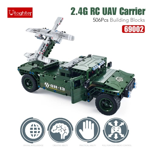506Pcs Utoghter 69002 2.4G RC UAV Carrier Building Blocks Kits Toy Bricks RC Car ModelToys &amp; Hobbies<br>506Pcs Utoghter 69002 2.4G RC UAV Carrier Building Blocks Kits Toy Bricks RC Car Model<br>