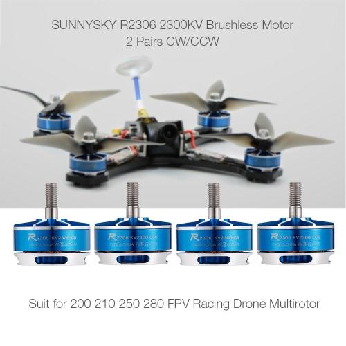 2 Pairs SUNNYSKY R2306 2300KV CW CCW 3-5S Brushless Motor for 210 QAV250 FPV Racing Drone Multirotor QuadcopterToys &amp; Hobbies<br>2 Pairs SUNNYSKY R2306 2300KV CW CCW 3-5S Brushless Motor for 210 QAV250 FPV Racing Drone Multirotor Quadcopter<br>
