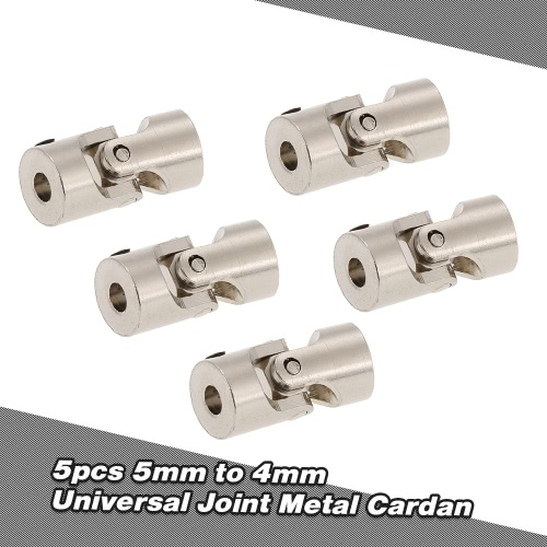 5pcs Stainless Steel 5 to 4mm Full Metal Universal Joint Cardan Couplings for RC Car and Boat D90 SCX10 RC4WDToys &amp; Hobbies<br>5pcs Stainless Steel 5 to 4mm Full Metal Universal Joint Cardan Couplings for RC Car and Boat D90 SCX10 RC4WD<br>