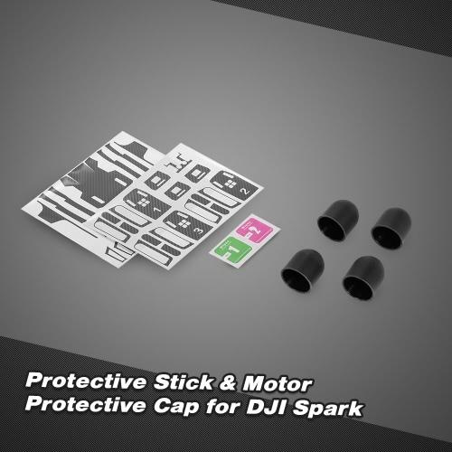 Protective Skin Sticker Cover Set &amp; Motor Protective Cap for DJI Spark FPV QuadcopterToys &amp; Hobbies<br>Protective Skin Sticker Cover Set &amp; Motor Protective Cap for DJI Spark FPV Quadcopter<br>