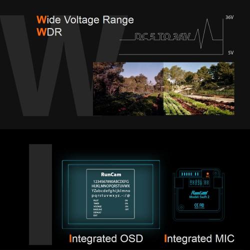 RunCam Swift 2  2.5mm 1/3 FOV 165 Degree 600TVL NTSC Micro FPV CameraToys &amp; Hobbies<br>RunCam Swift 2  2.5mm 1/3 FOV 165 Degree 600TVL NTSC Micro FPV Camera<br>