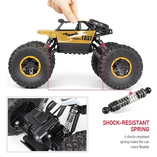 P810 1/18 2.4G 4WD 15KM/h Alloy High Speed Monster Truck Cross-country RC Climbing Car