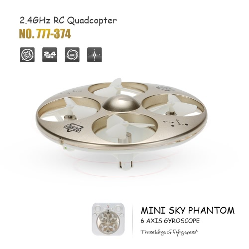HappyCow 777-374 Mini Sky Phantom Nano 2.4GHz 4CH 6-axis Gyro RC Quadcopter 3D Flip Headless Mode UFO Drone RTFToys &amp; Hobbies<br>HappyCow 777-374 Mini Sky Phantom Nano 2.4GHz 4CH 6-axis Gyro RC Quadcopter 3D Flip Headless Mode UFO Drone RTF<br>