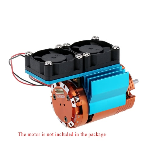 7019 Motor Heat Sink With Two Cooling Fans for 1/10 HSP RC Car 540/550 3650 MotorToys &amp; Hobbies<br>7019 Motor Heat Sink With Two Cooling Fans for 1/10 HSP RC Car 540/550 3650 Motor<br>