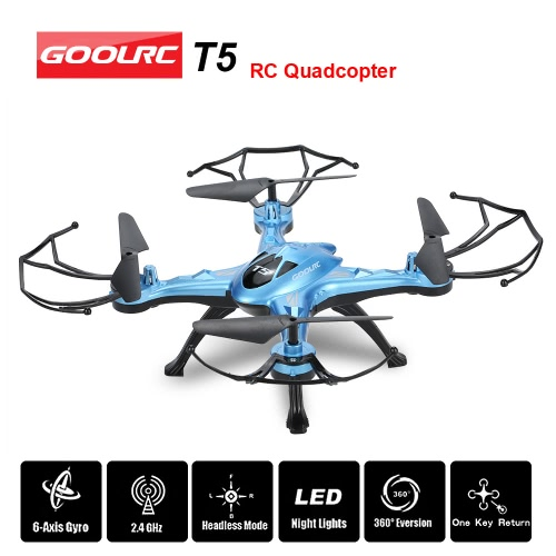 GoolRC T5 2.4GHz 4CH 6-axis Gyro RC Quadcopter with One Key Return CF Mode 360° Eversion FunctionToys &amp; Hobbies<br>GoolRC T5 2.4GHz 4CH 6-axis Gyro RC Quadcopter with One Key Return CF Mode 360° Eversion Function<br>