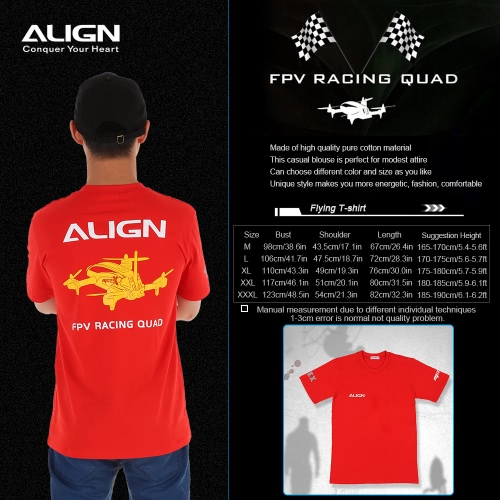 Original Align HOC00218 Short Sleeve T-Shirt for Align MR25X FPV RC QuadcopterToys &amp; Hobbies<br>Original Align HOC00218 Short Sleeve T-Shirt for Align MR25X FPV RC Quadcopter<br>