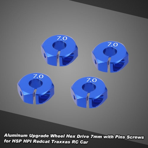 Aluminum Upgrade Wheel Hex Drive 7mm with Pins Screws for HSP HPI Redcat Traxxas RC CarToys &amp; Hobbies<br>Aluminum Upgrade Wheel Hex Drive 7mm with Pins Screws for HSP HPI Redcat Traxxas RC Car<br>