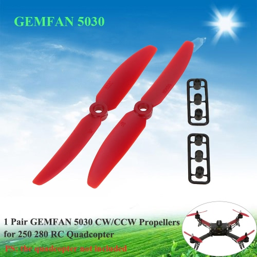 1 Pair GEMFAN 5030 CW/CCW Propellers for QAV250 H250 280 RC QuadcopterToys &amp; Hobbies<br>1 Pair GEMFAN 5030 CW/CCW Propellers for QAV250 H250 280 RC Quadcopter<br>