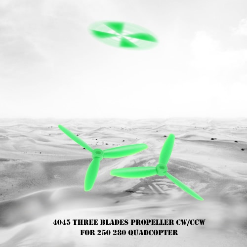 4 Pair 4045 Three Blades Propeller CW/CCW Props for 250 280 RC QuadcopterToys &amp; Hobbies<br>4 Pair 4045 Three Blades Propeller CW/CCW Props for 250 280 RC Quadcopter<br>