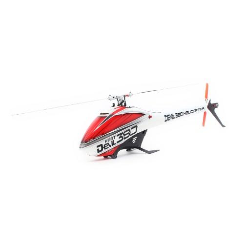 Original ALZRC Devil 380 FAST Flybarless Belt Drive 6CH 3D Helicopter Super Combo Set with Motor ESC Servo Gyro