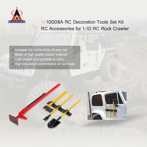 4Pcs AUSTAR 10008A RC Decoration Tools Set Kit RC Accessories for 1:10 RC Rock CrawlerToys &amp; Hobbies<br>4Pcs AUSTAR 10008A RC Decoration Tools Set Kit RC Accessories for 1:10 RC Rock Crawler<br>