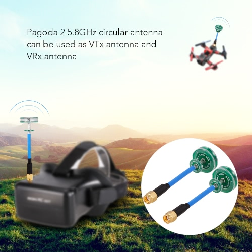 2PCS Pagoda 2 5.8G Omnidirectional TX/RX RHCP RP-SMA 80mm FPV Antenna for RC FPV Racing Drone GogglesToys &amp; Hobbies<br>2PCS Pagoda 2 5.8G Omnidirectional TX/RX RHCP RP-SMA 80mm FPV Antenna for RC FPV Racing Drone Goggles<br>