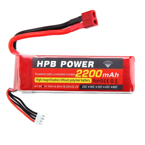 HPB 11.1V 2200mAh 25C MAX 35C 3S T Plug Li-po Battery for RC Car Airplane T-REX 450 Helicopter PartToys &amp; Hobbies<br>HPB 11.1V 2200mAh 25C MAX 35C 3S T Plug Li-po Battery for RC Car Airplane T-REX 450 Helicopter Part<br>
